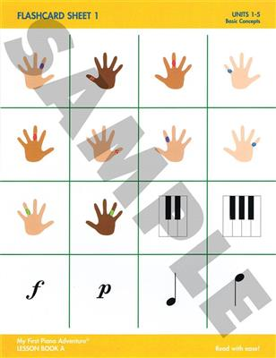 My First Piano Adventure: Flashcard Sheets