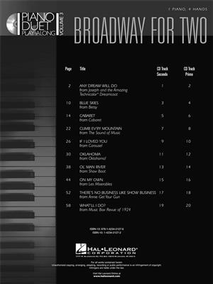 Piano Duet Play-Along Volume 3: Broadway For Two