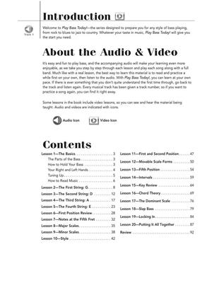 Play Bass Today! All-in-One Beginner's Pack