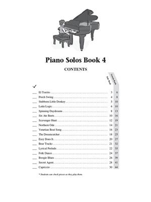 Hal Leonard Student Piano Library: Piano Solos Book 4