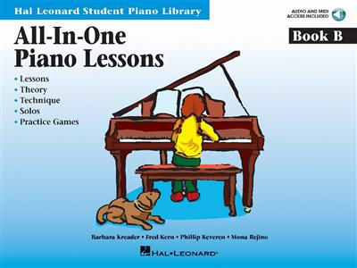 All-In-One Piano Lessons: Book B (Book/Online Audio)