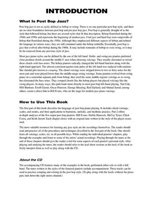 Post-Bop Jazz Piano (Book/Online Audio)