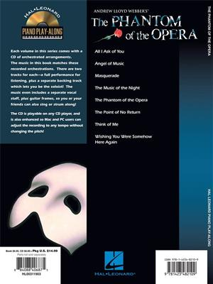 Piano Play-Along Volume 83: Phantom Of The Opera (Book/Online Audio)