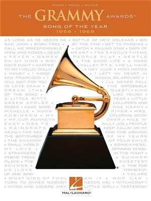 The Grammy Awards: Song Of The Year 1958-1969. PVG Sheet Music