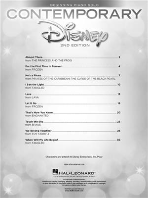 Contemporary Disney Solos (Beginning Piano Solo) - 2nd Edition