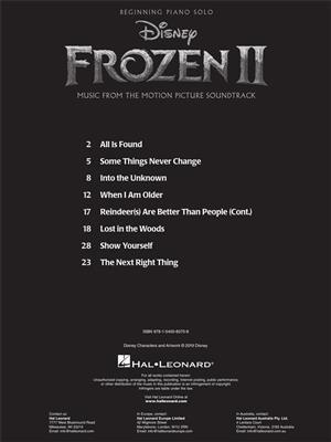 Frozen II - Beginning Piano Solo