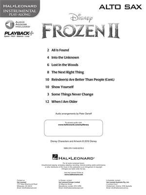 Frozen II - Instrumental Play-Along Alto Sax
