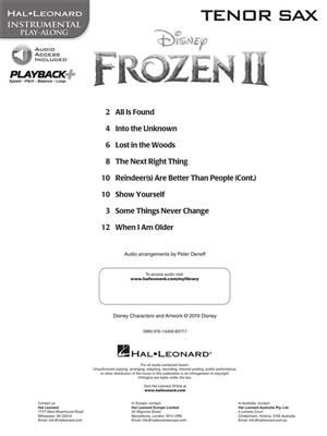Frozen II - Instrumental Play-Along Tenor Sax