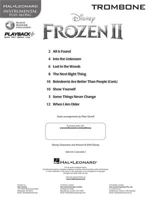 Frozen II - Instrumental Play-Along Trombone