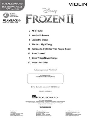 Frozen II - Instrumental Play-Along Violin