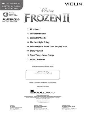Frozen II - Instrumental Play-Along Violin