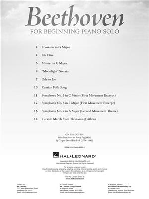 Cover for Beethoven for Beginning Piano Solo