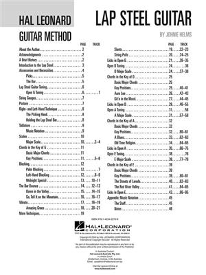 Hal Leonard Guitar Method: Lap Steel Guitar (Book/Online Audio)