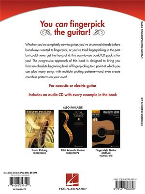 Andrew DuBrock: Easy Fingerpicking Guitar. Guitar Tab Sheet Music, CD