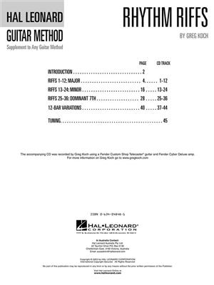 Hal Leonard Guitar Method: Rhythm Riffs