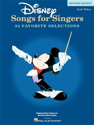 Disney Songs For Singers: Low Voice - Revised Edition Cover