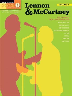 Pro Vocal Volume 19: Lennon And McCartney Cover