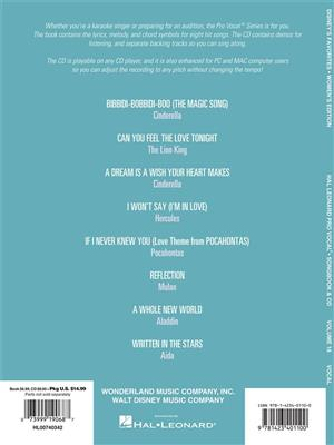 Pro Vocal Women's Edition Volume 16: Disney Favourites