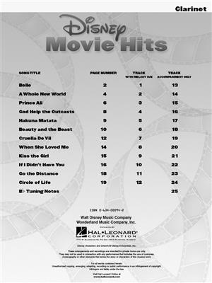 Disney Movie Hits Clarinet Book Online Audio