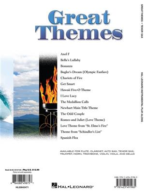 Tenor Saxophone Play Along Great Themes