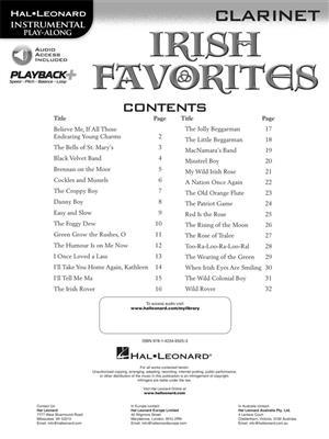 Instrumental Playalong Irish Favourites Clarinet