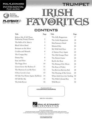 Instrumental Playalong: Irish Favourites - Trumpet