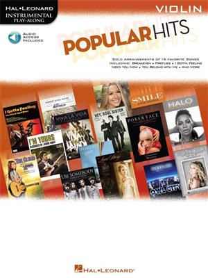 Instrumental Play Along Popular Hits Violin Book Online Audio