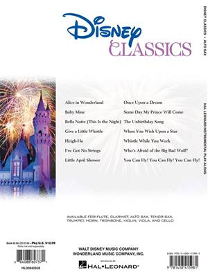 Cover for Alto Saxophone Play Along Disney Classics