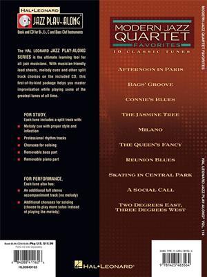 Jazz Play Along Volume 114: Modern Jazz Quartet Favorites