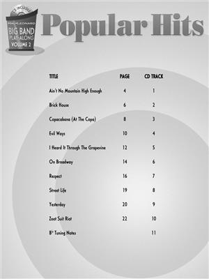 Big Band Play-Along Volume 2: Popular Hits - Trumpet