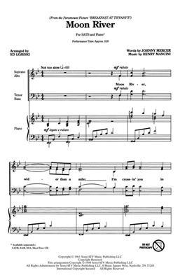 Henry Mancini: Moon River (SATB)