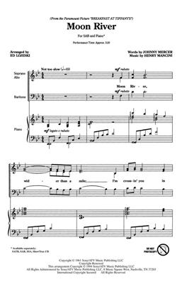 Henry Mancini: Moon River (SAB). Choral Sheet Music