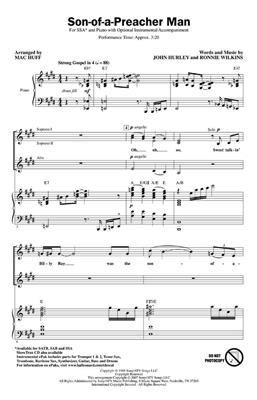 Son Of A Preacher Man (SSA). Choral Sheet Music