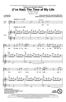(I've Had) The Time of My Life (from Dirty Dancing) - SATB