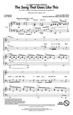 Eric Idle: The Song That Goes Like This (Spamalot) (SATB)