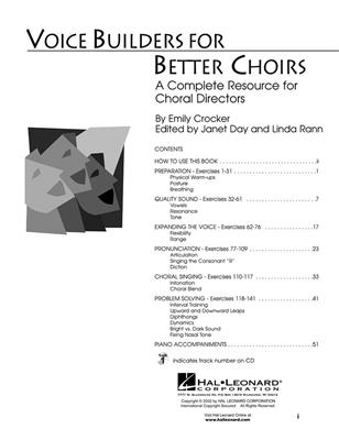 Emily Crocker: Voice Builders For Better Choirs Cover