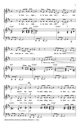 High School Musical Choral Medley 2 Part Sheet Music