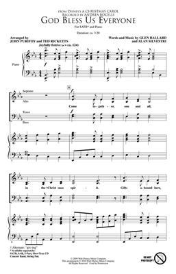 Andrea Bocelli: God Bless Us Everyone (Disney's A Christmas Carol) - SATB Cover