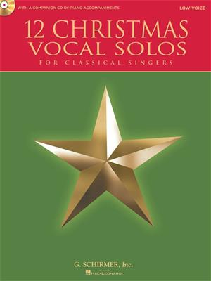 12 Christmas Vocal Solos - Low Voice. Sheet Music, CD Cover