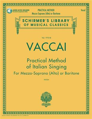 Practical Method Of Italian Singing: For Mezzo-Soprano (Alto) Or Baritone (Book/Online Audio)