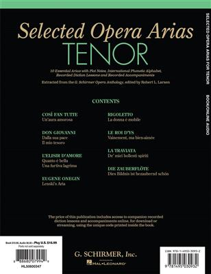 Selected Opera Arias: Tenor