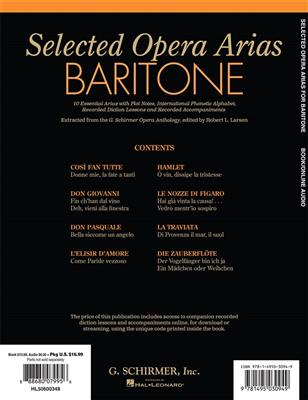Selected Opera Arias: Baritone