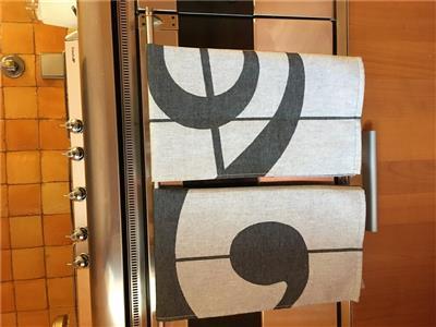Dish/Tea Towel Pack Of 2 Clef Design