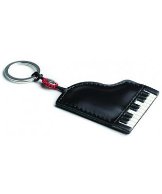 Italian Leather Keyring - Piano