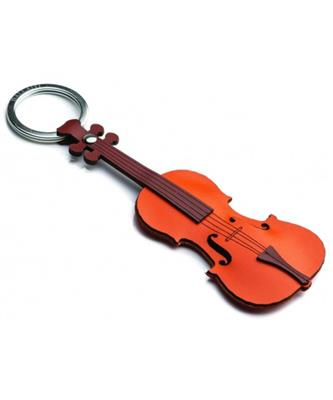 Italian Leather Keyring - Violin