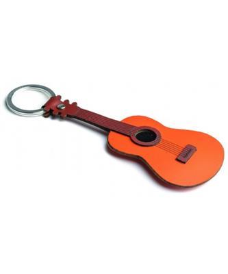 Italian Leather Keyring - Acoustic Guitar