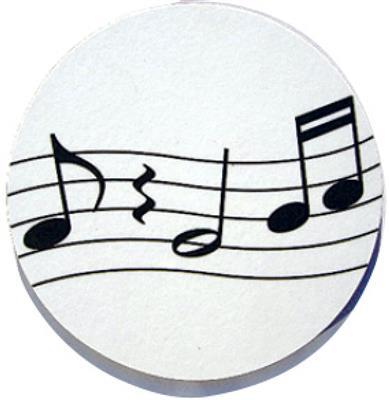 Mugmats Wavy Music White