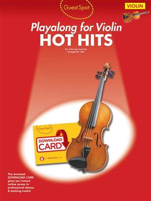 Guest Spot: Hot Hits - Violin (Book/Audio Download)