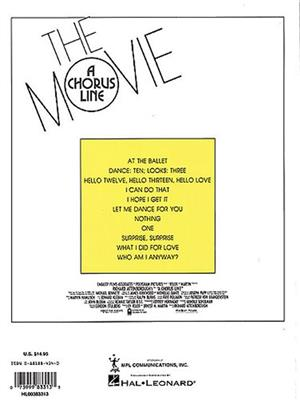 A Chorus Line The Movie: Vocal Selections. PVG Sheet Music