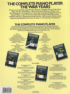 The Complete Piano Player The War Years